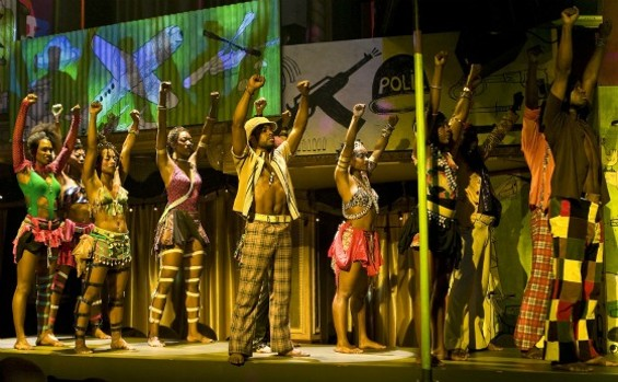 The cast of Fela! earns the title's exclamation point. - MONIQUE CARBONI