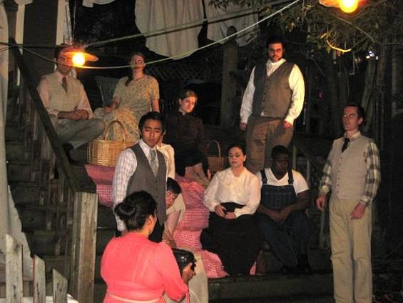The cast of Susannah. - SF PARLOR OPERA