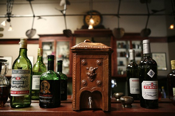 The centerpiece is a beautifully restored 1907 mahogany bar. - EATERSF/FLICKR