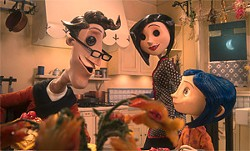 The characters in Coraline are made to move not by binary code but by human hands.