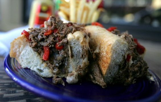 The cheesesteak at The Refuge comes to Menlo Park. - MIKE KOOZMIN