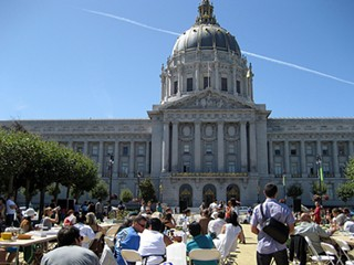 The Civic Center event was one of several in the city. - MENTAL.MASALA/FLICKR