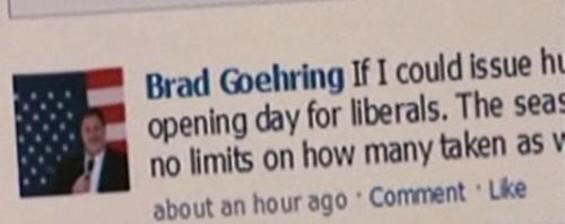 The comedian himself, Brad Goehring - SCREEN CAPTURE       KTVU
