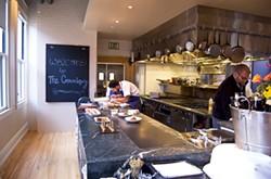 JENN PRIES - The Commissary's elegant open kitchen.