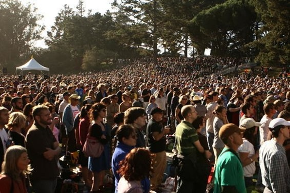 The crowd at Hardly Strictly