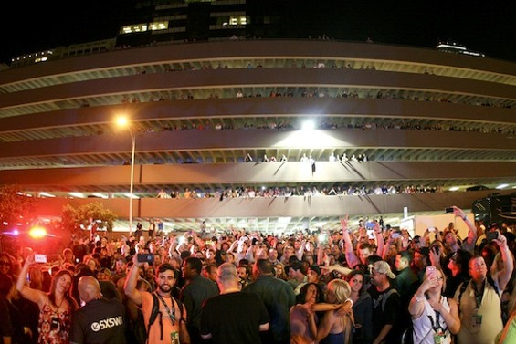 The crowd at Third Eye Blind's Friday-night SXSW showcase. - CHRISTOPHER VICTORIO