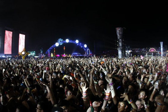 The crowd at this weekend's Electric Daisy Carnival 2014 in Las Vegas. - CHRISTOPHER VICTORIO