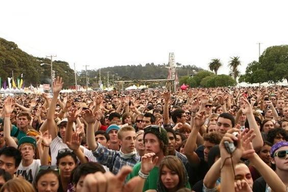 The crowd at Treasure Island last year. - CHRISTOPHER VICTORIO