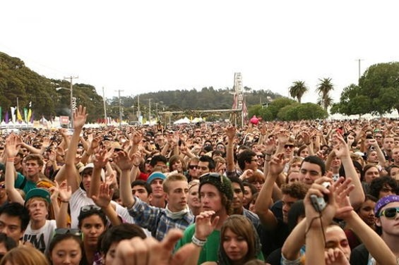 The crowd at Treasure Island last year. - CHRISTOPHER VICTORIO
