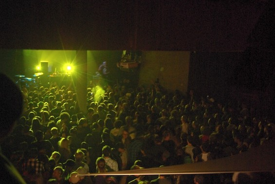 The crowd during Caspa's set
