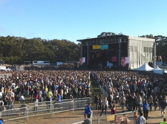The crowd Phoenix drew at Outside Lands in 2010 -- much larger than will fit inside the Independent.
