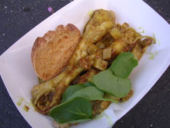 The curried frog legs