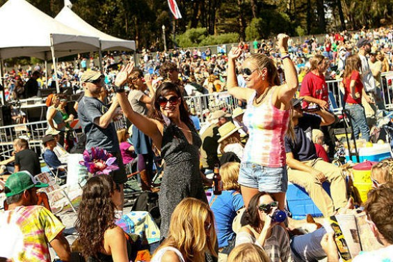 The dance you do when you get to Hardly Strictly.