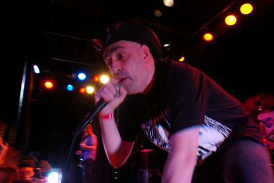 The Dead Milkmen at Slim's last night. Photos by the author.