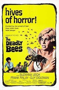 The Deadly Bees: theatrical release poster from 1967--that's star Suzanna Leigh in the center - PARAMOUNT PICTURES/AMICUS PRODUCTIONS