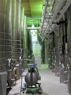 LOU BUSTAMANTE - The Domaine Carneros winemaking facility.