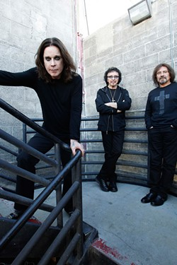 The doom trio: Tony Iommi, center, with Ozzy Osbourne and Geezer Butler.