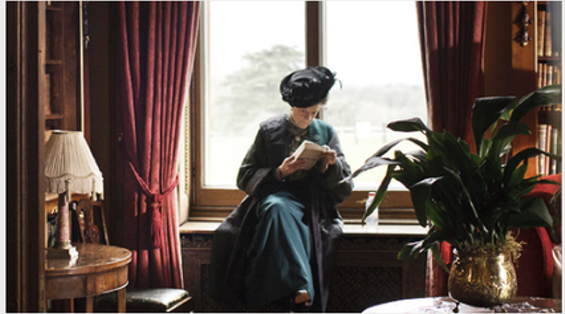 """The Dowager Countess reads up on """"socially correct insults for distant relations."""""""