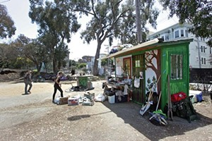 The eco-village pre-raid - MIKE KOOZMIN/SF EXAMINER