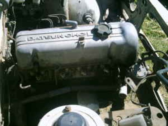 The engine -- that doesn't work and doesn't appear to be in the car