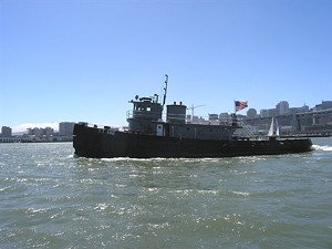 The ex-U.S.S. Wenonah in happier, less damp, days - HISTORIC TUGBOAT EDUCATION AND RESTORATION SOCIETY