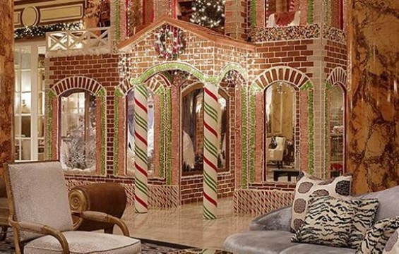 The Fairmont's two-story gingerbread house is real, and it's fabulous. - FAIRMONT HOTEL