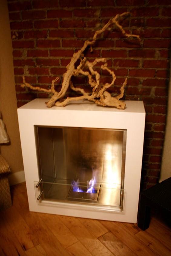 The fireplace. - JANINE KAHN