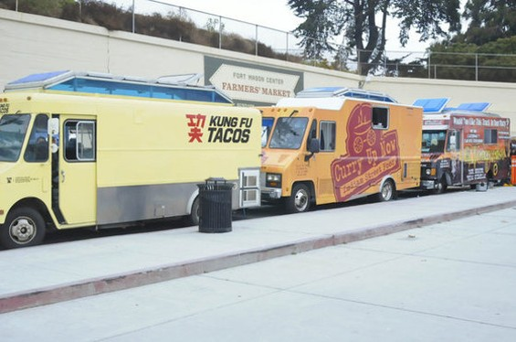 The first Off the Grid launched at Fort Mason Center in late June. - CHRIS MACARTHUR/SF WEEKLY