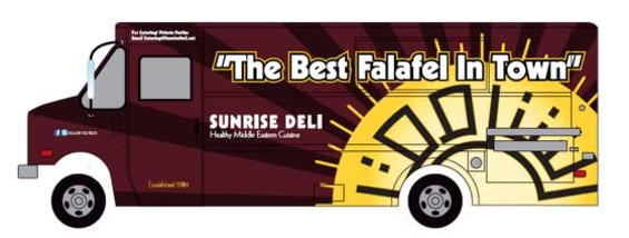 The future design of Sunrise Deli's new truck.