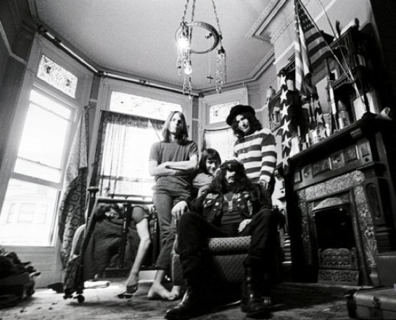 The Grateful Dead in their house at 710 Ashbury.