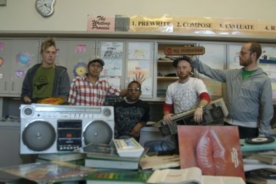 The GrownKids Radio Crew (from left to right): Cyclyst, Brown Majic, E da Boss, Diversify, Spinnerty