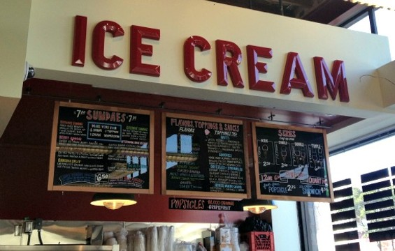 The ice cream counter at the new Bi-Rite on Divisadero. - ANNA ROTH