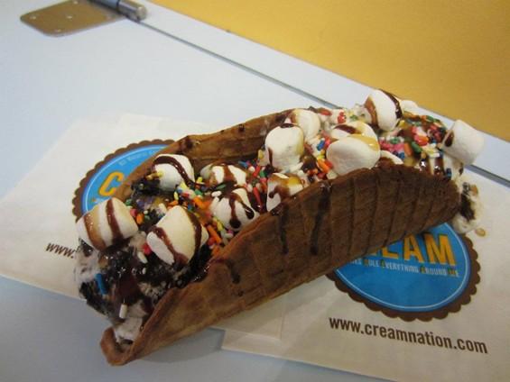 The ice cream taco. - C.R.E.A.M.