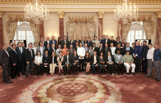 The initial members of the American Chef Corps gather in Washington D.C. - U.S. DEPARTMENT OF STATE