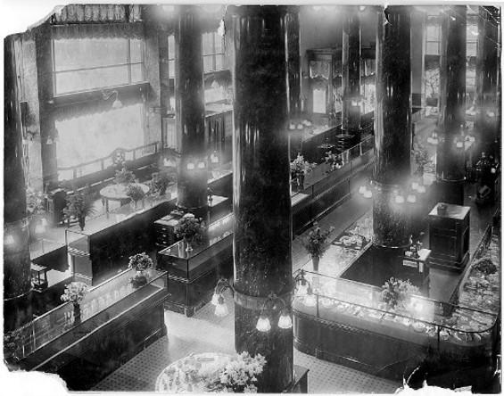 The interior of the Shreve & Co. Store circa 1909. - WIKIPEDIA