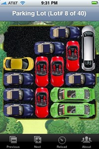 The iPhone app 'Parking Lot'