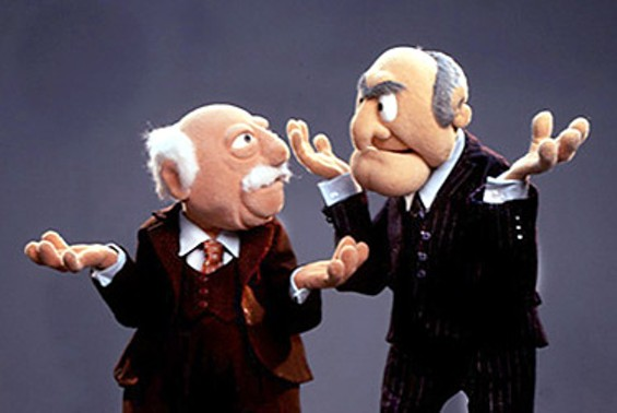 The jury's out for Waldorf and Statler. - THE MUPPETS