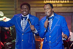 The late Mac with co-star Jackson. As swan songs go, Soul Men is pretty sweet.