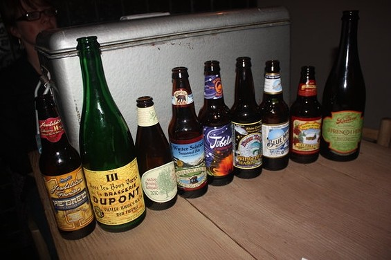 The lineup: Ten different interpretations of what the holidays should taste like (nine are pictured here). - BRIAN YAEGER