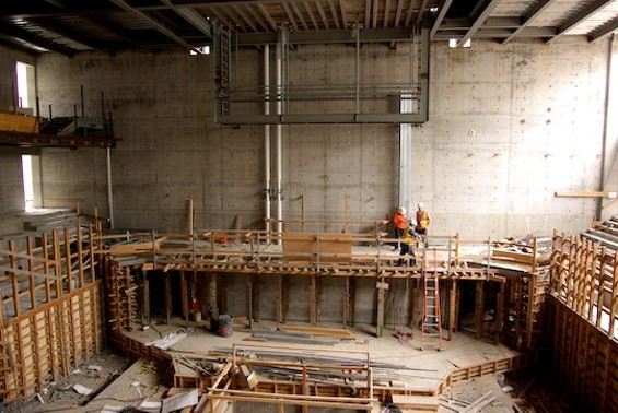 The main performance room of the SFJAZZ center, now about 55 percent completed.