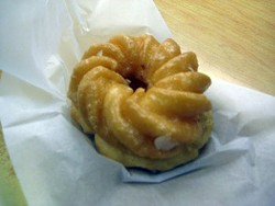 The maple-glazed cruller at Bob's - JANINE KAHN