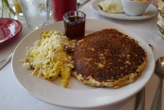 The Mary's Special, with an egg scramble and oatmeal-pear-almond pancakes