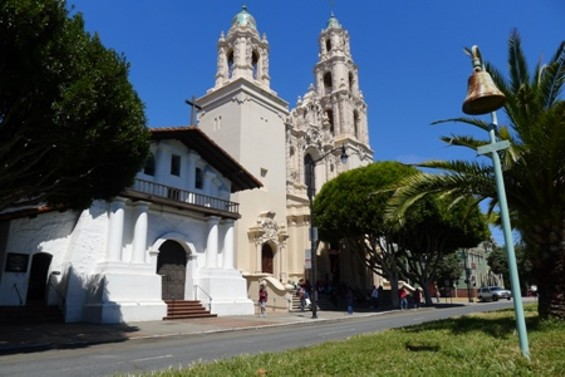 The Mission Dolores today.