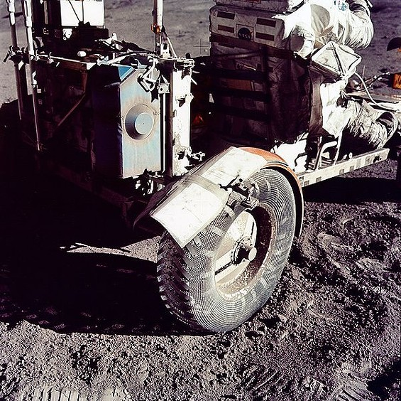 The moon landings were not faked -- nor is this photo of duct tape on the fender of the lunar rover in 1972 - AGEEKGAL