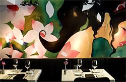 JEN SISKA - The mural overtakes the room at Midi.