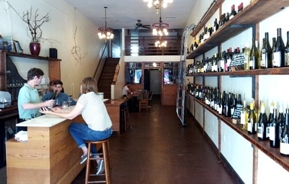 The new spot is part wine bar, part wine retail. - PETE KANE