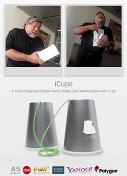 Steve Wozniak beta-tests the iCup.