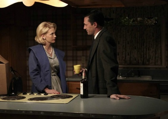 The only way to lure Don Draper into the kitchen was with an open bottle of whiskey