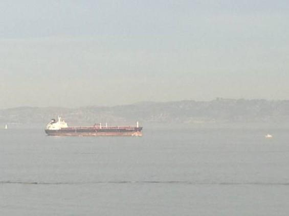 The Overseas Reymar in the Bay yesterday. - ALBERT SAMAHA