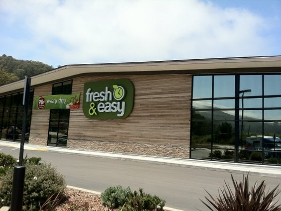 The Pacifica Fresh & Easy store's exterior. - JONATHAN KAUFFMAN